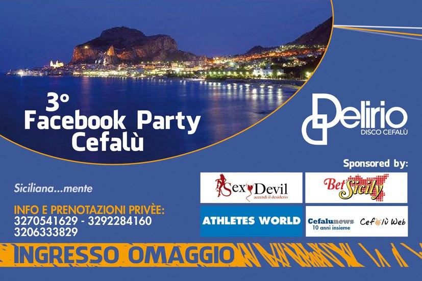 Cefalù, Facebook Party: sarà un terzo assalto al Delirio!