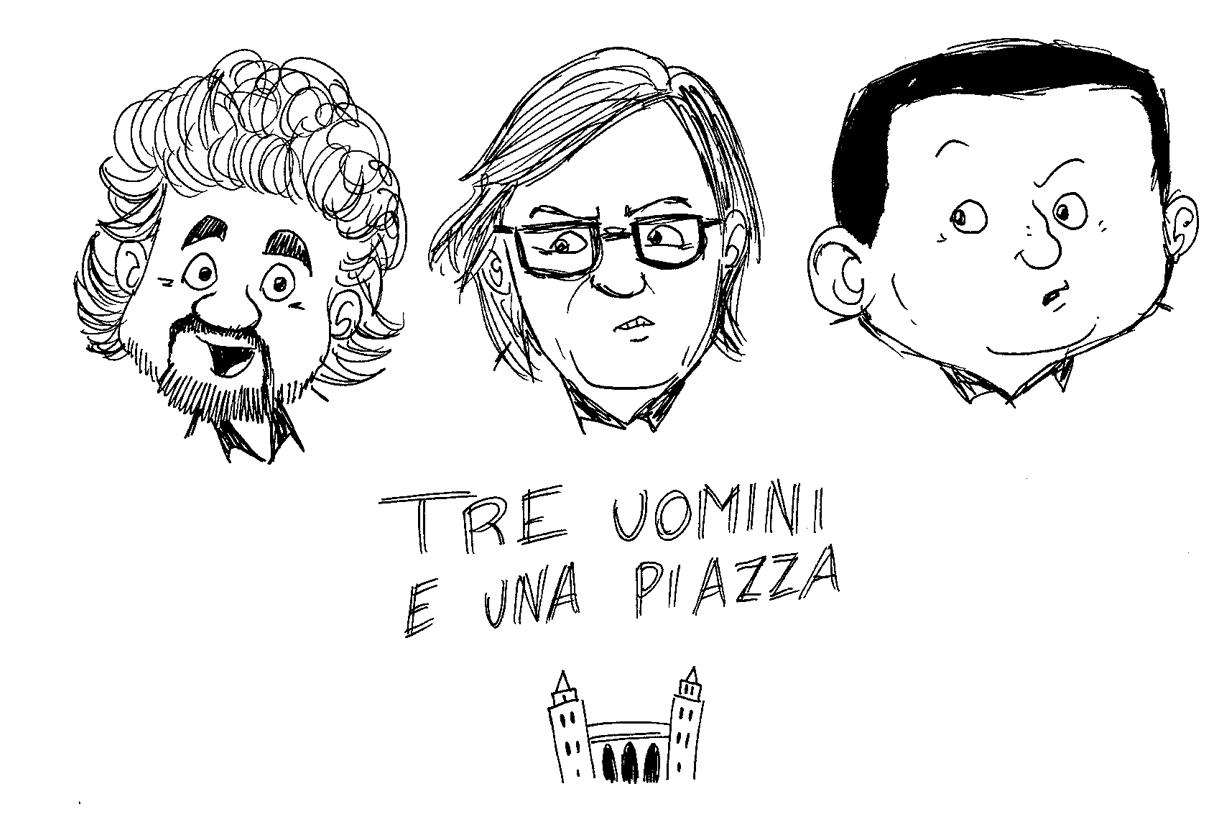 """Le vignette di Cefalù Web: """"Tre uomini e una piazza…"""""""