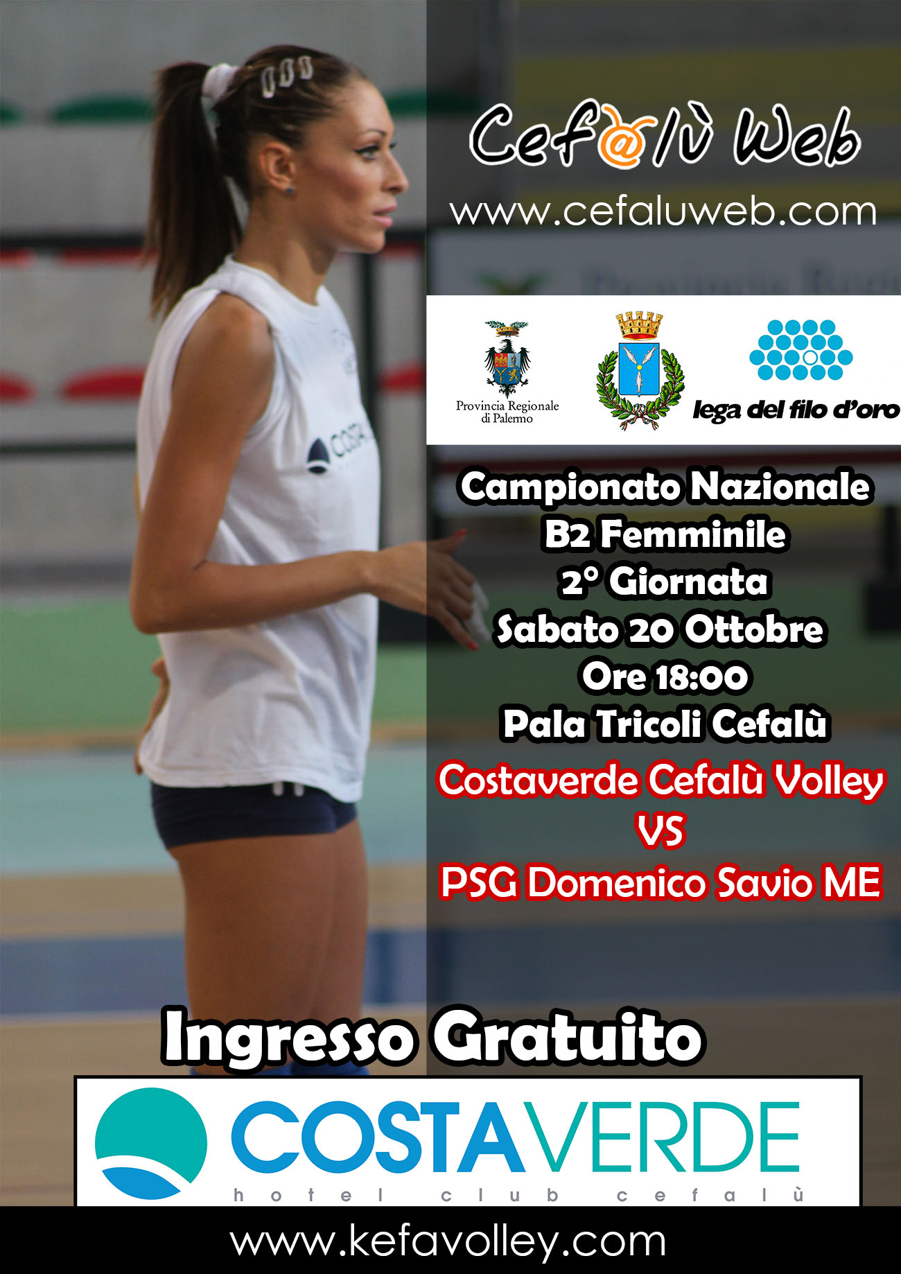 Esordio in casa per la Costaverde Volley Cefalù