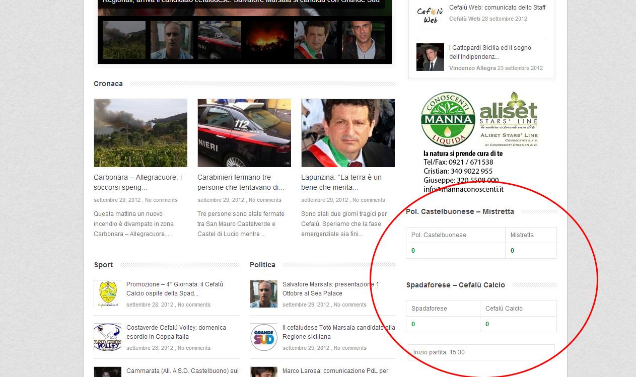 Cefalù Calcio e Costaverde Cefalù Volley: aggiornamenti LIVE su Cefalù Web