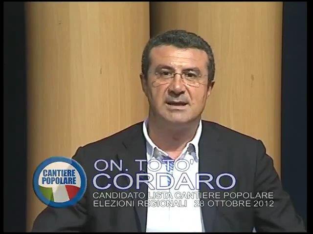"""Lo spot elettorale dell'On. Cordaro: """"Ci siamo liberati di Lombardo. La Sicilia può ripartire"""""""