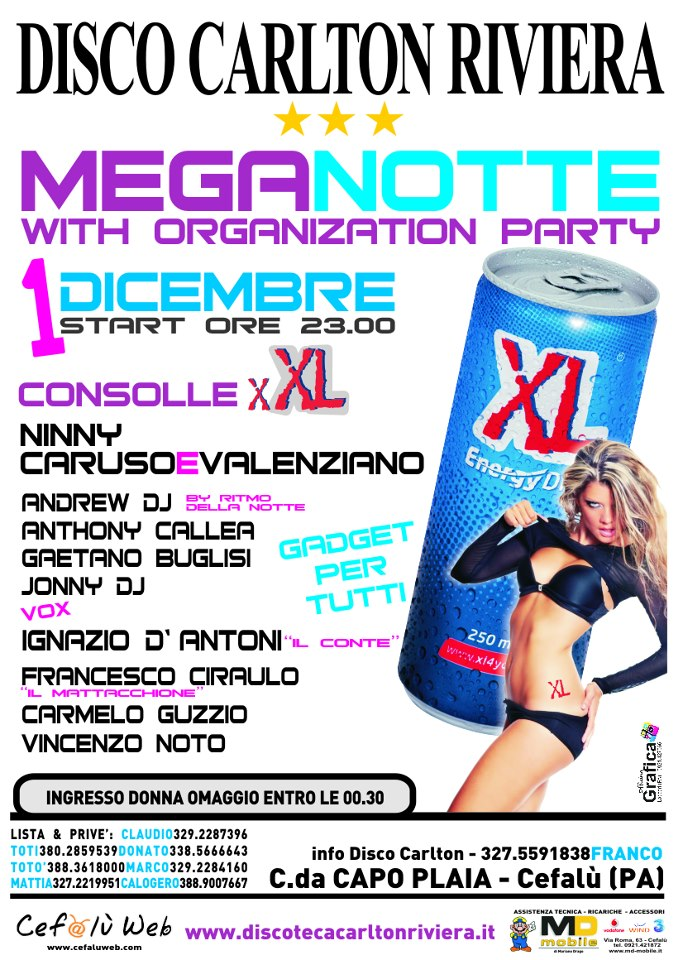 Discoteca Carlton Riviera: XL Energy Drink
