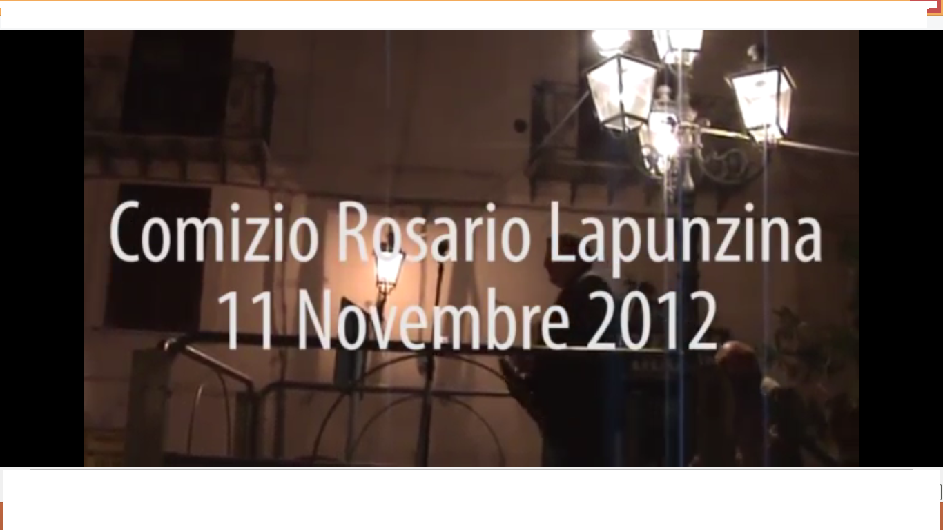 Comizio Lapunzina (VIDEO INTEGRALE)