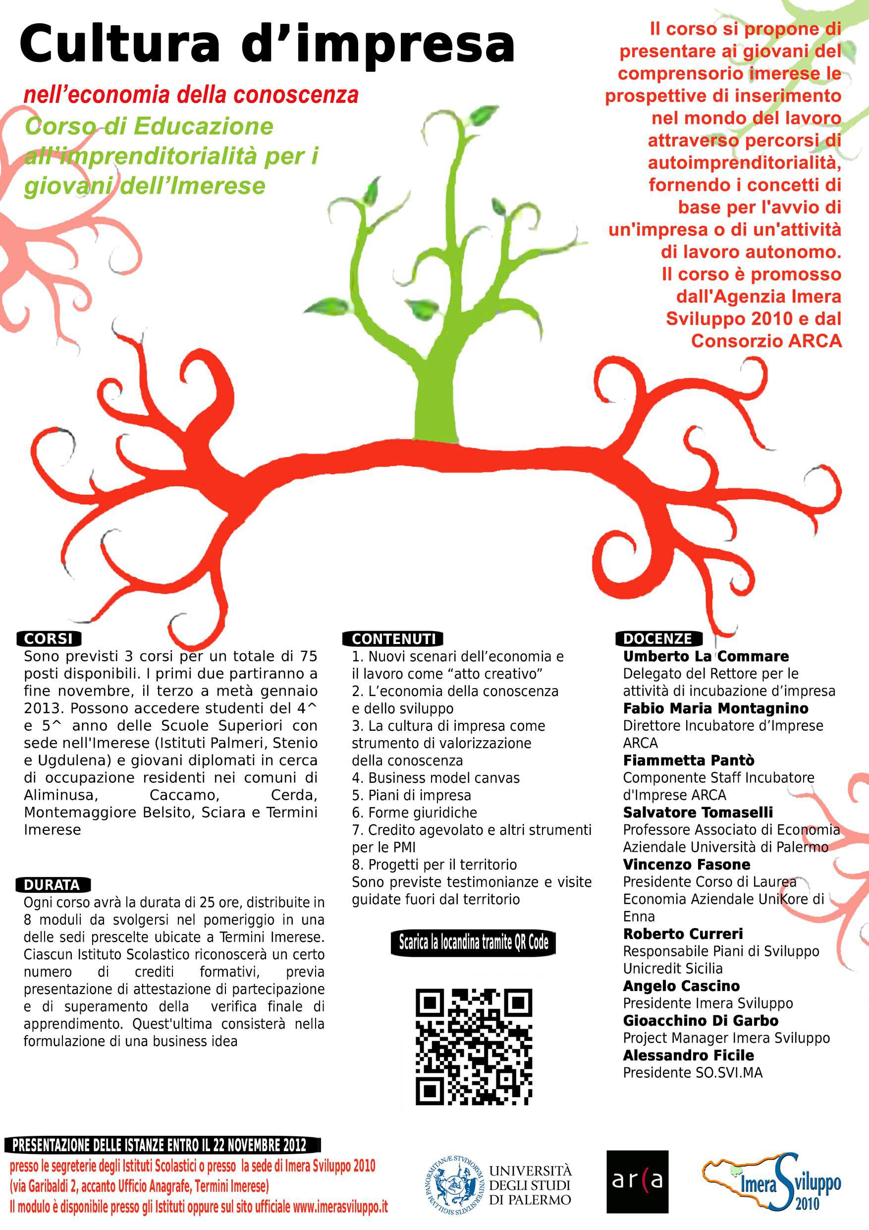 Al via i corsi di Educazione all'imprenditorialità per i giovani dell'Imerese