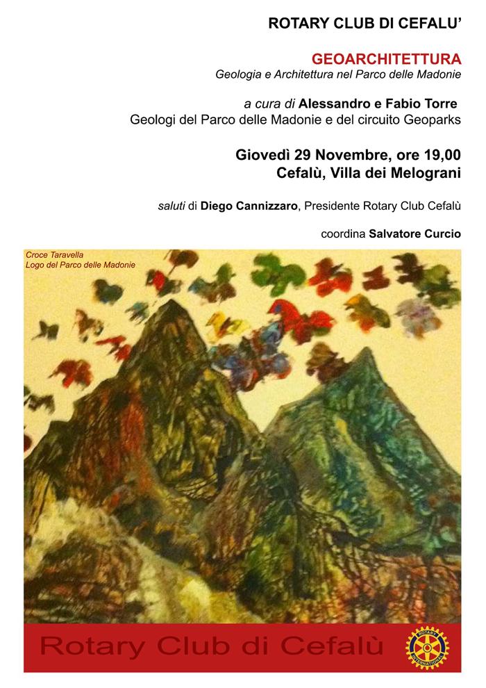 Rotary Club: incontro di Geoarchitettura domani presso la Villa dei Melograni