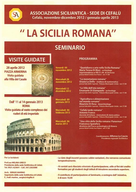 Seminario SiciliAntica a Cefalù