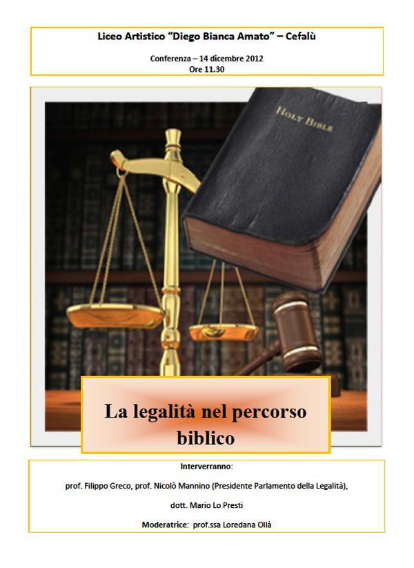 La legalità nel percorso biblico al Liceo Artistico di Cefalù