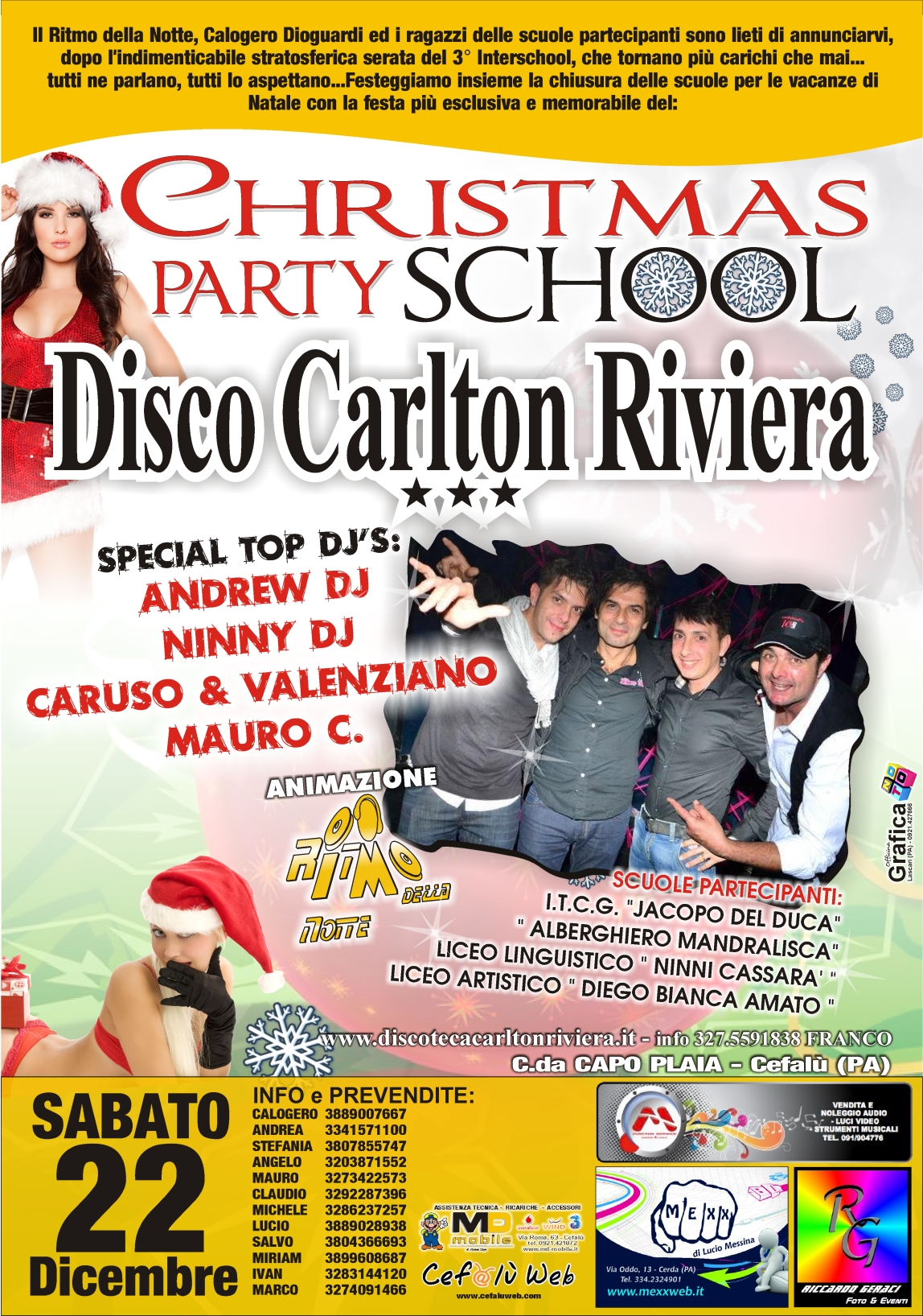 Discoteca Carlton Riviera: Christmas Party School