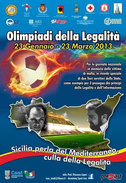 Olimpiadi della legalità, dal 23 gennaio al 23 marzo a Palermo