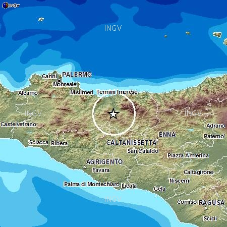 Scossa di terremoto nelle Madonie