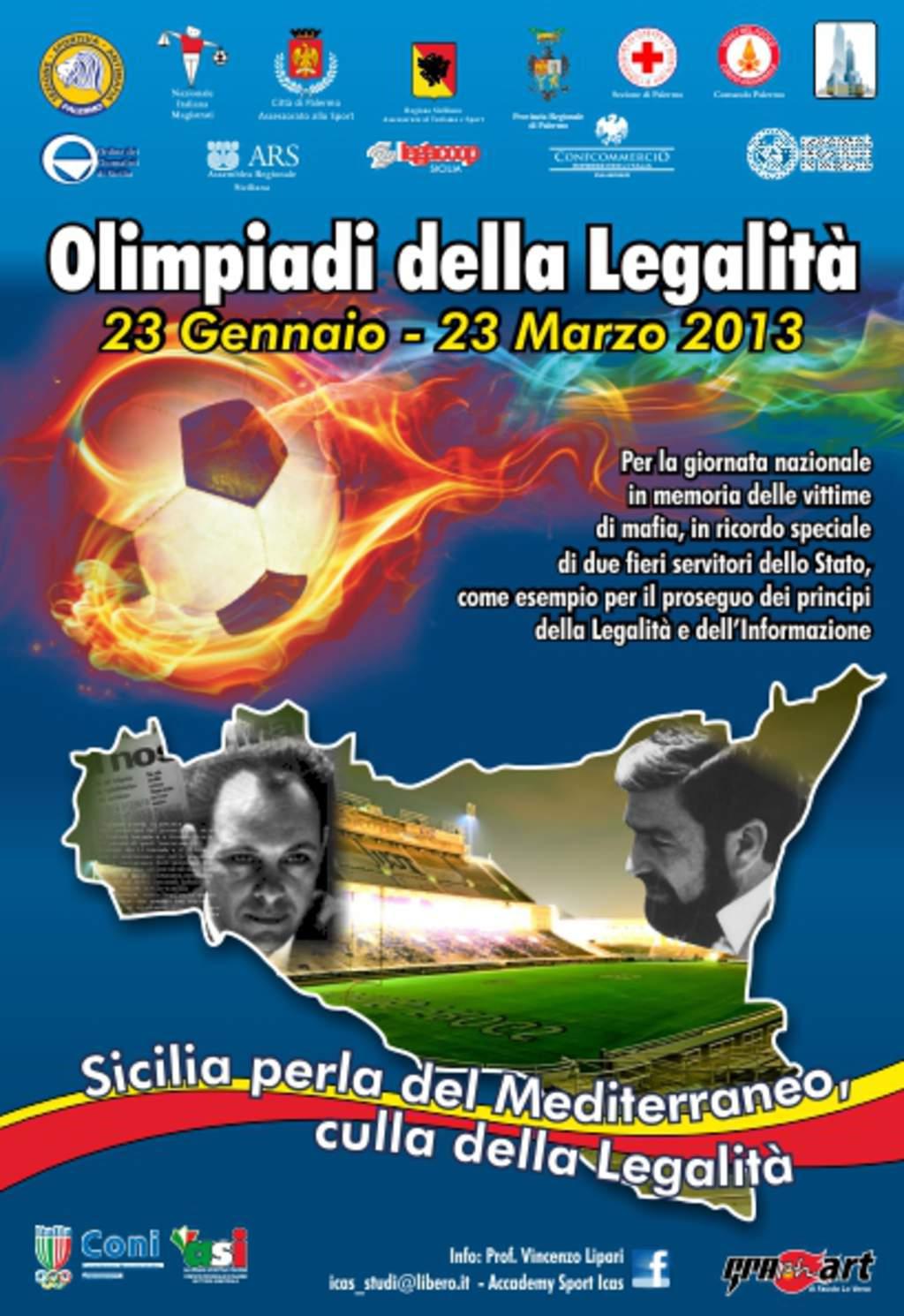 """Nella sala conferenze dell'Ordine dei giornalisti di Sicilia  presentate stamattina le """"Olimpiadi della legalità"""""""