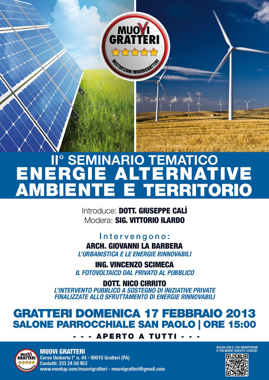 A Gratteri II Seminario Tematico: Energie alternative, ambiente e territorio