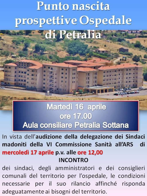Incontro per il punto nascita di Petralia