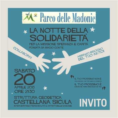 A Castellana Sicula, la Notte della Solidarietà