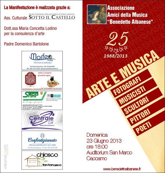 """25° anniversario """"Amici della musica"""" a Caccamo"""