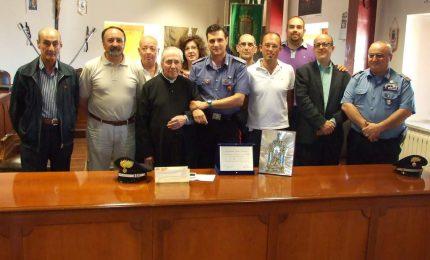 San Mauro: cerimonia di ringraziamento per l'ex comandante dei carabinieri Piacentino