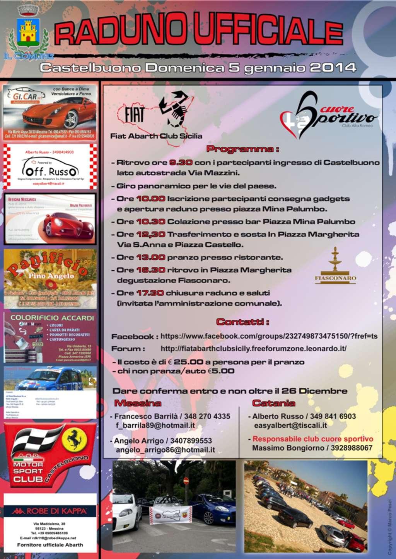 A Castelbuono il raduno automobilistico Alfa Romeo e Fiat Abarth