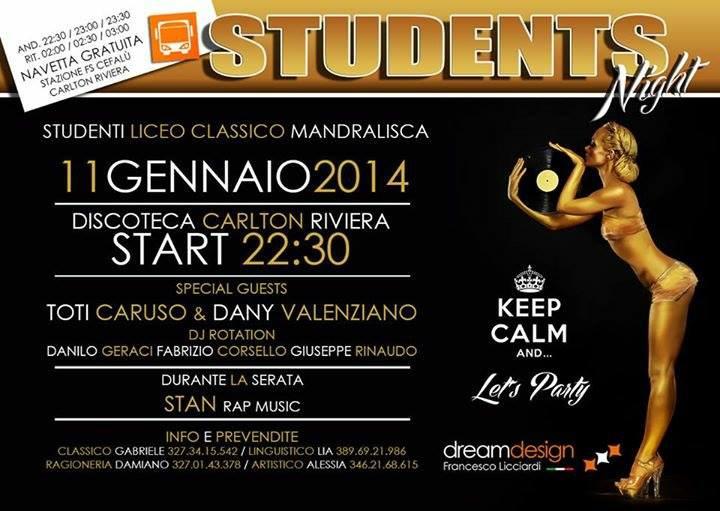 Students Night: il Liceo Classico Mandralisca in festa l'11 gennaio
