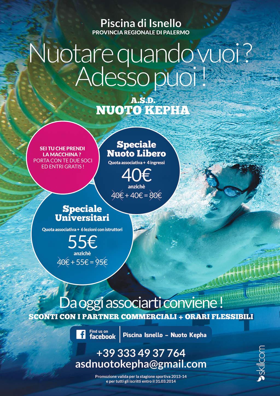 Nuoto Kepha: tariffe speciali alla piscina di Isnello