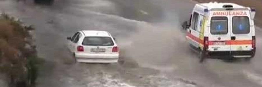 Forte temporale su Palermo: allagamenti e traffico in tilt