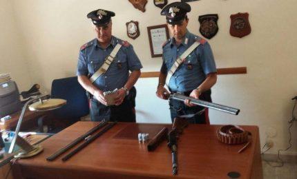 Montemaggiore Belsito: Arrestato un anziano per detenzione illegale di armi da fuoco
