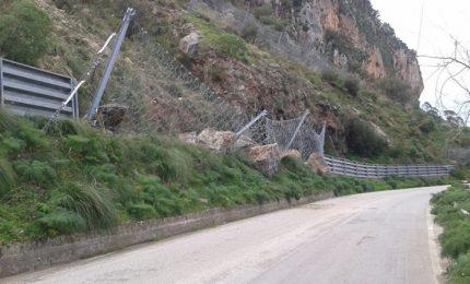 Inizio lavori nel costone roccioso Monte D'Oro sulla SP9 interessato dalla caduta massi