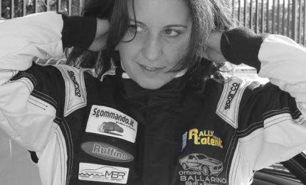 La finalista siciliana del Rally Italia Talent Miriam Ballarino in gara al 1° gran premio del mare di Mondello