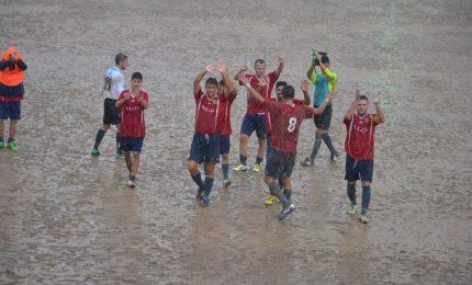 Il Cefalù calcio vince ancora 3-1 al Mistretta nel pantano del Santa Barbara