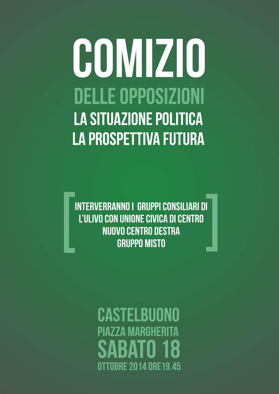 Castelbuono, comizio delle forze d'opposizione