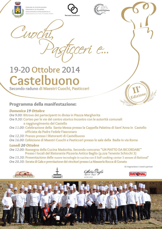 Secondo raduno di maestri Cuochi, Pasticceri a Castelbuono