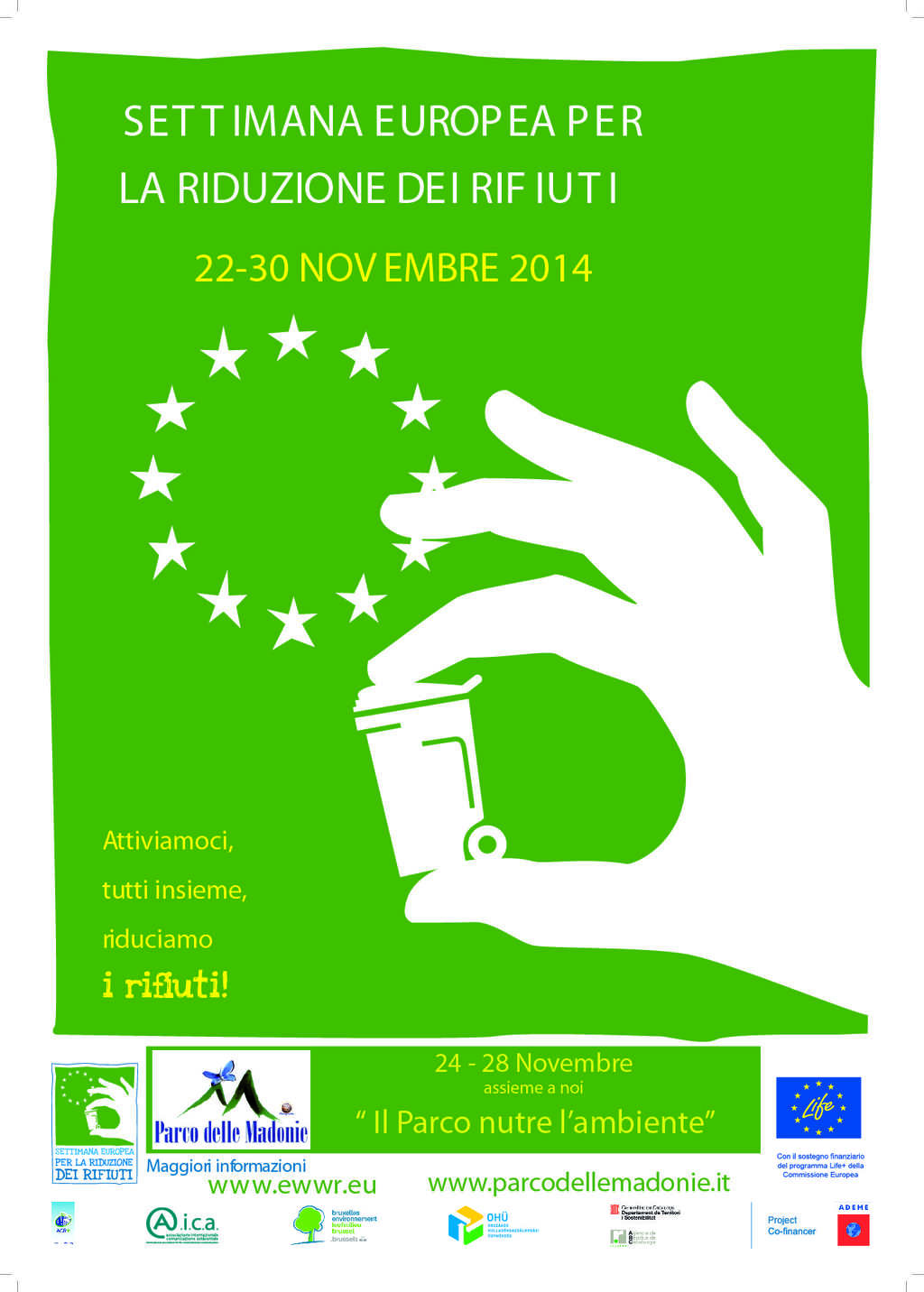 Approvato il progetto dell'ente Parco per la SERR Settimana Europea delle Riduzione dei Rifiuti 22/30 novembre