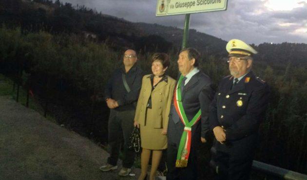 Lascari intesta una strada a Giuseppe Scicolone
