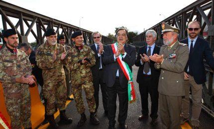 Palermo. Il sindaco Orlando inaugura il ponte Bailey