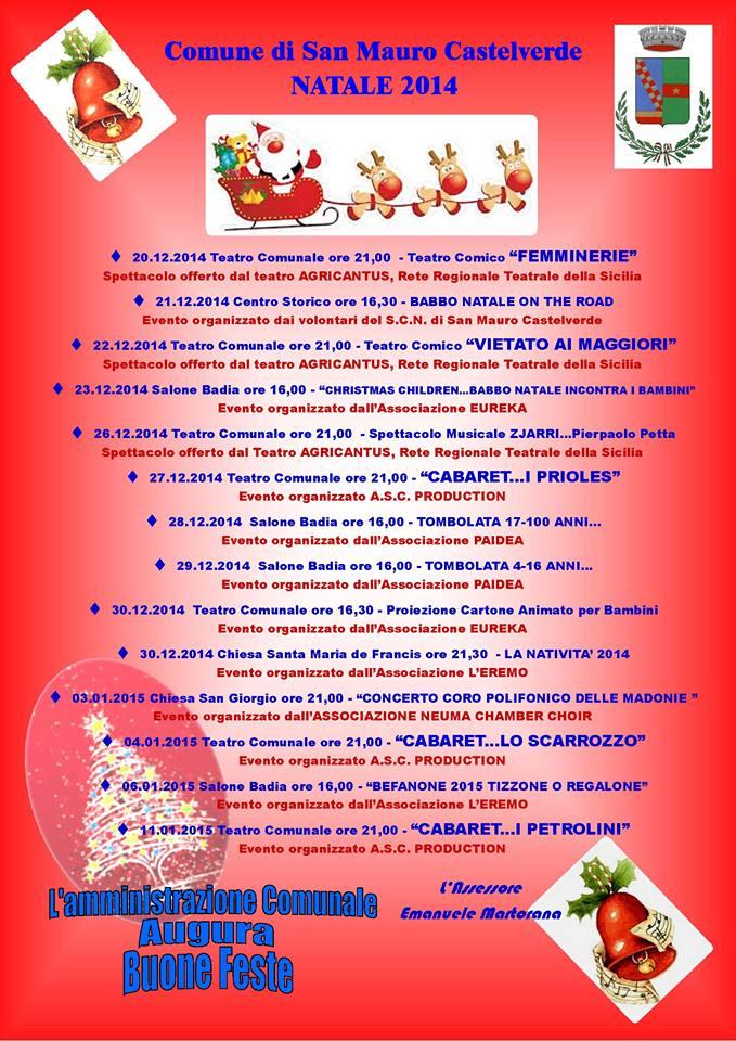 Aria di Natale a San Mauro Castelverde, ecco il programma