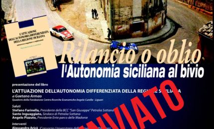 Petralia Sottana, rinviata la presentazione del libro dell dott. Armao