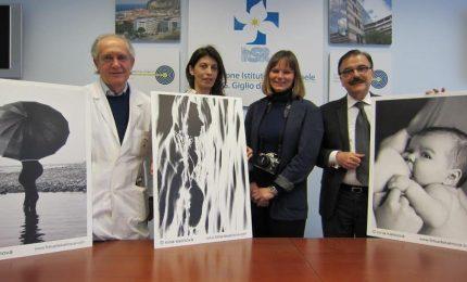 Percoso della maternità in gigantografie donate al San Raffaele Giglio