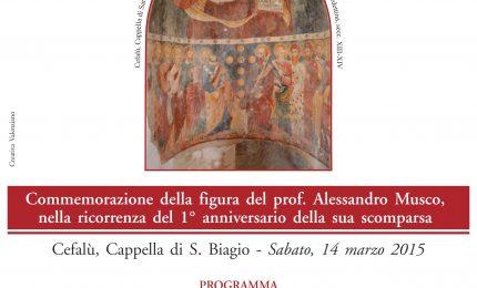 Commemorazione del Prof. Alessandro Musco ad un anno dalla scomparsa