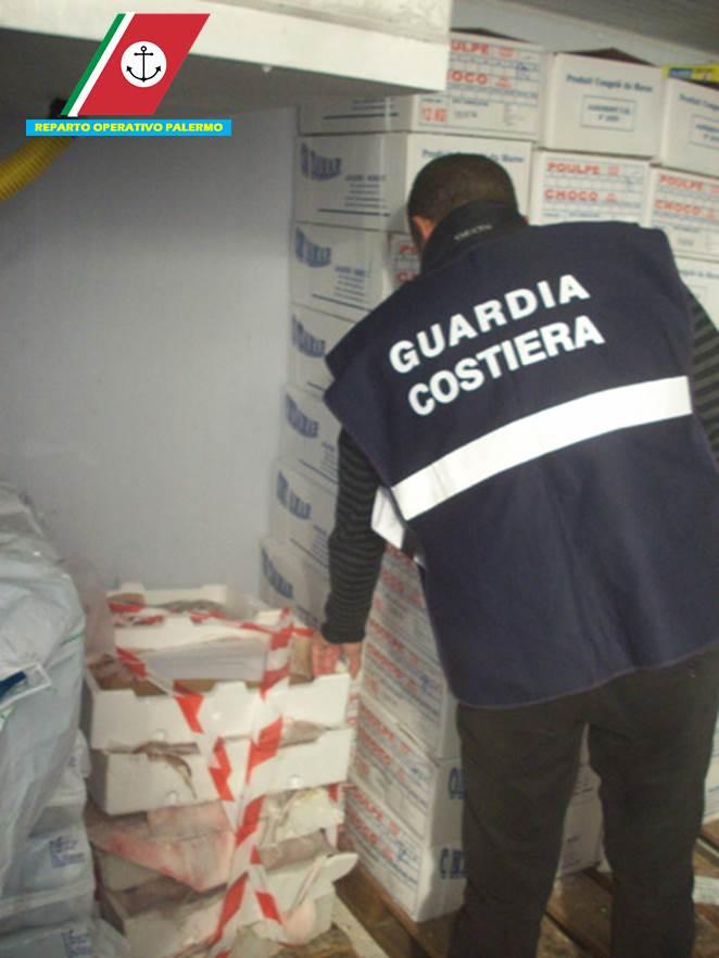 Guardia Costiera, controlli e sequestri di prodotti ittici