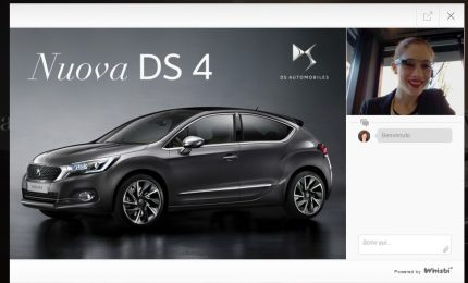 """Per la prima volta in Italia nuova DS 4 si lascia scoprire con """"Live Virtual Showroom"""""""