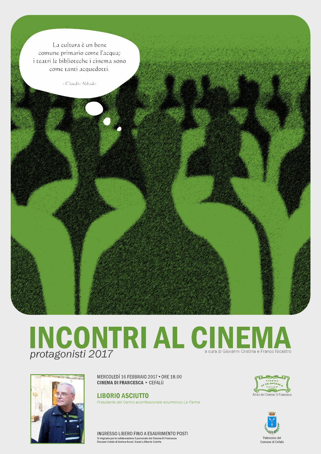 """Cefalù: Don Liborio Asciutto a """"Incontri al cinema"""""""