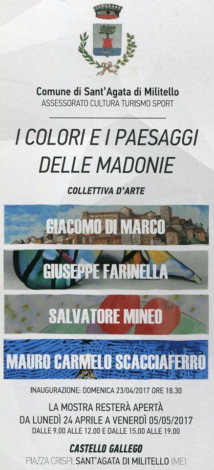 """""""I colori e i paesaggi delle Madonie"""", al via collettiva d'arte"""