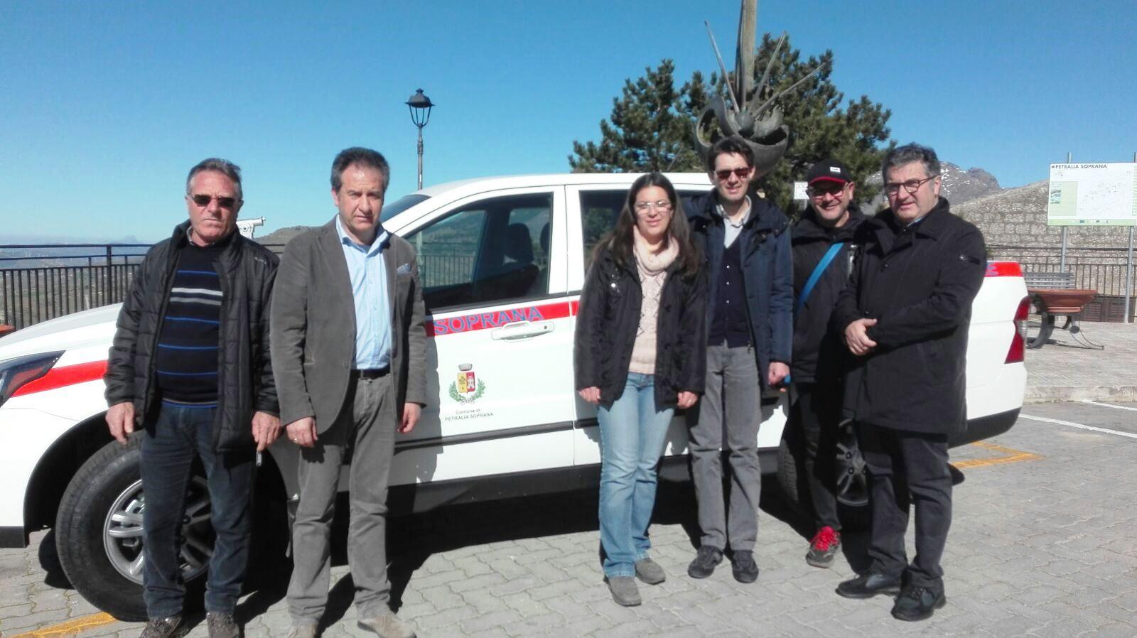 Nuovo mezzo per la protezione civile di Petralia Soprana
