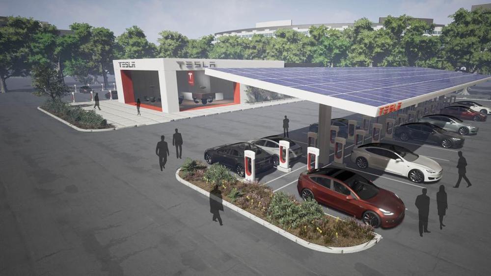 Auto elettriche, a Campofelice una stazione di ricarica Tesla