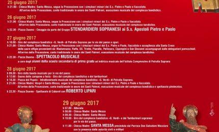 Petralia Soprana festeggia i Patroni Pietro e Paolo