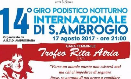 Al via il Giro podistico internazionale di Sant'Ambrogio