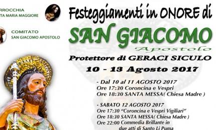 Geraci Siculo festeggia S. Giacomo dal 10 al 13 agosto