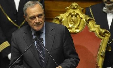 Il presidente del Senato Pietro Grasso a Castelbuono