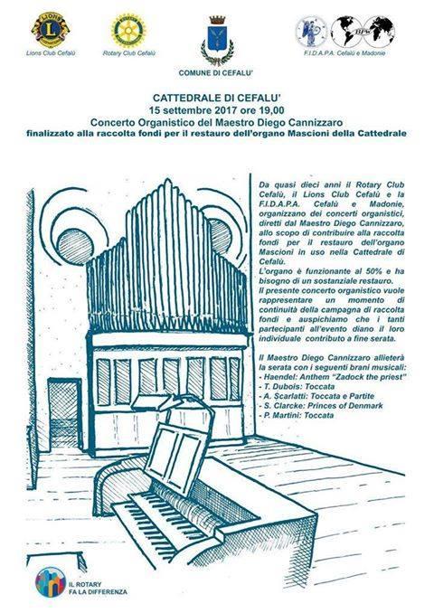 Cattedrale di Cefalù: un concerto per raccogliere i fondi per il restauro dell'organo