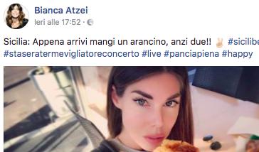 Bianca Atzei a Montemaggiore Belsito