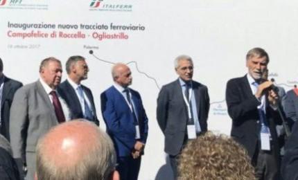 Il Ministro Delrio inaugura il tracciato Campofelice di Roccella - Ogliastrillo